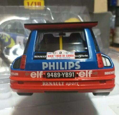 Renault 5 Gt Turbo Philips Ragnotti Tour De Corsé Ixo 1//18