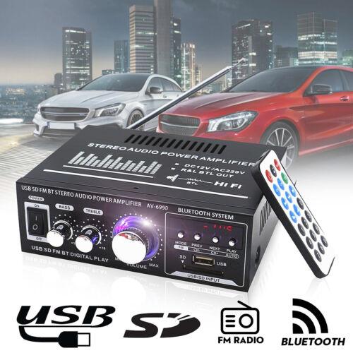 220V/12V 400W bluetooth HiFi Audio Stereo Power Amplifier USB FM 2CH Home Car