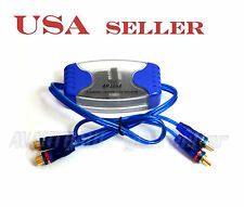 2 Channel RCA Ground Loop Isolator for Car Audio High/Low Level Converter 3052