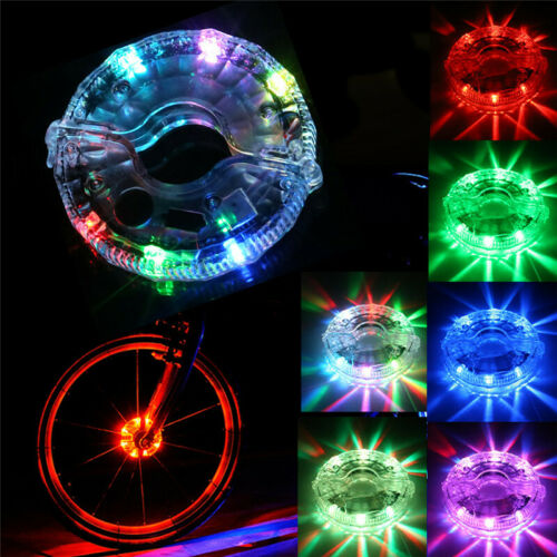 Rechargeable LED Lights Bike Wheel Kid Children Bike Bicycle Lamp Fun Cycling