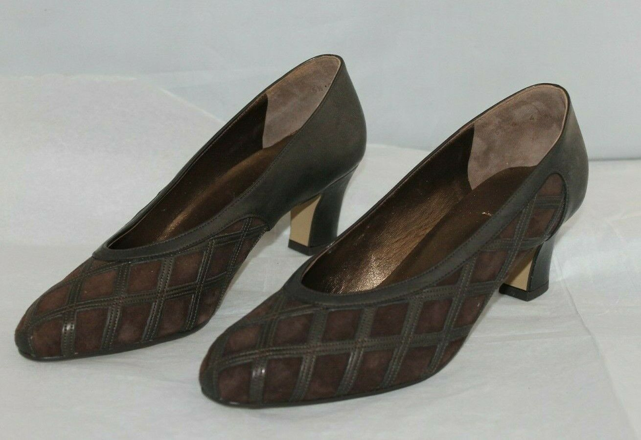 ara Elegance Pumps Brown Suede and Leather Us 7 1/2 Uk 5 1/2