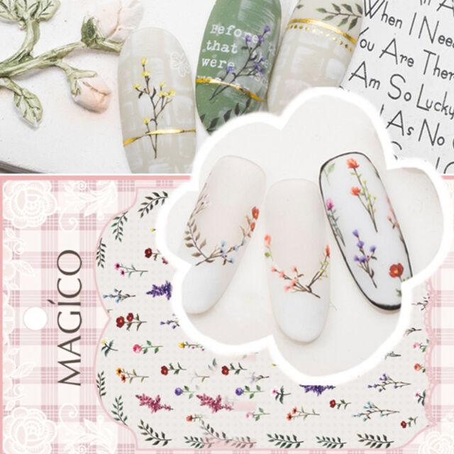 Ultrathin Adhesive 3D Nail Art Sticker Flower Leaf Decals Tips 10.3*8cm