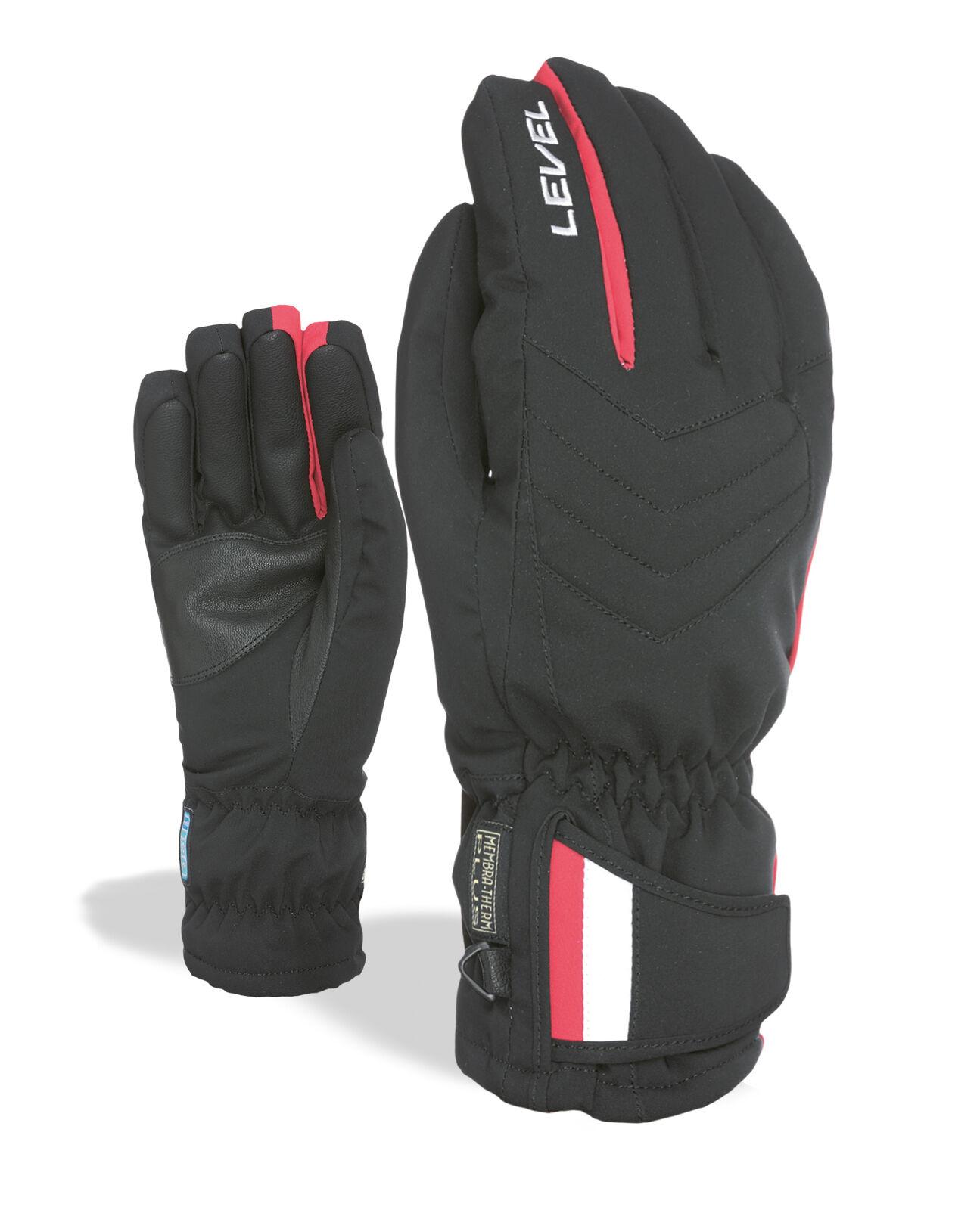 Level  Handschuh  Snowland black wasserdicht atmungsaktiv elastisch  enjoy saving 30-50% off