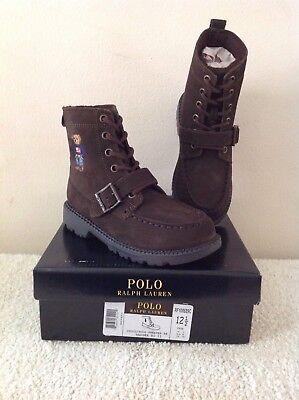 Polo Ralph Lauren Boy/'s Ranger II Boot Sweater Bear Big Kid's Size 13