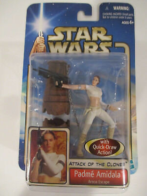 STAR WARS AOTC ATTACK O CLONES SAGA SERIES #02 PADME AMIDALA ARENA ESCAPE FIGURE
