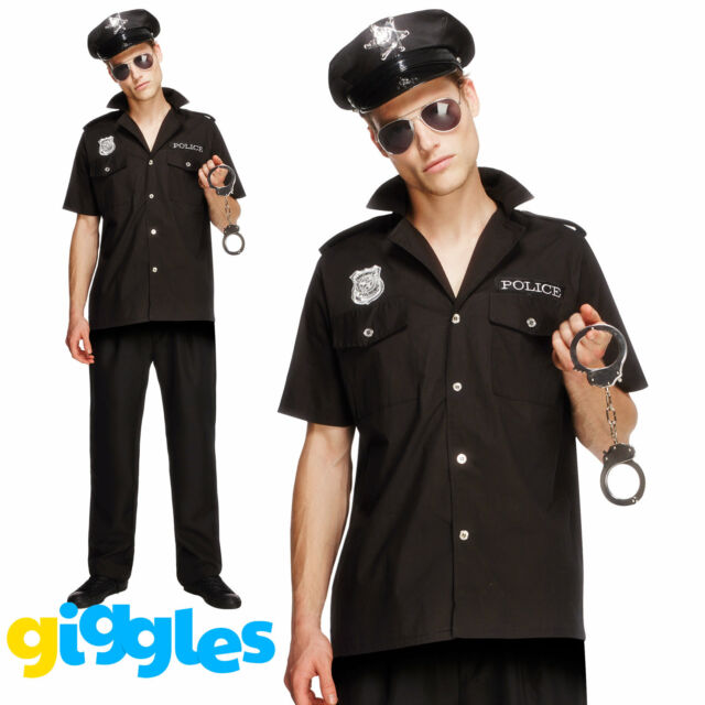 Mens Forensic Investigator Crime Scene Police Fancy Dress Costume Outfit Large For Sale Online Ebay