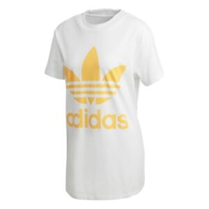 62fa6a18bde Adidas Women's T-Shirt Big Trefoil Tee Dh3165 White/Orange Mod ...