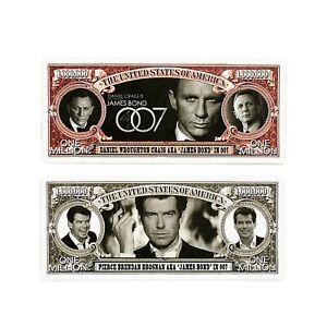 Set-of-2-diff-USA-issued-James-Bond-007-fantasy-paper-money