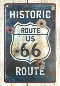 Historic Route 66 tin metal sign bedroom office design ...