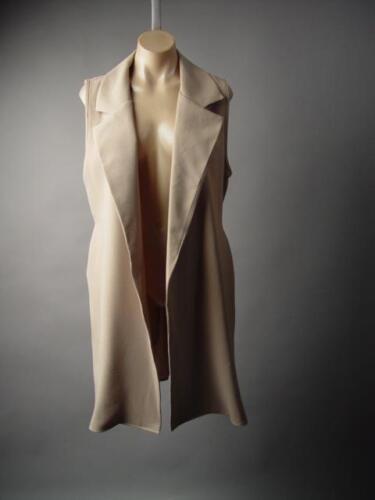 Khaki Beige Work Office Business Long Blazer Suit Jacket 211 mv Vest 1XL 2XL 3XL