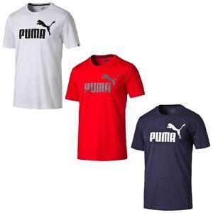 Details zu PUMA Herren ESS Essential No.1 Logo Tee T Shirt Keeps You Dry