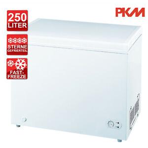 Gefriertruhe Tiefkühltruhe Drahtkorb PKM GT250A+++ Nutzinhalt 250 Liter
