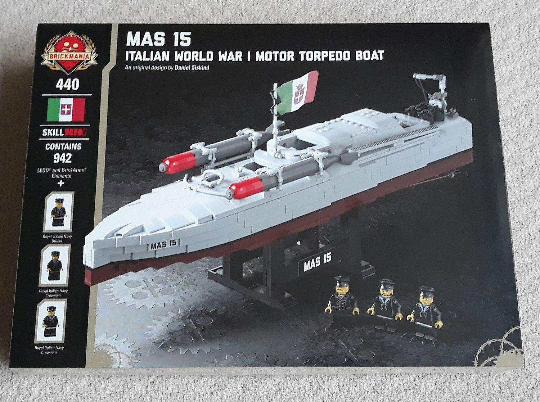 LEGO Brickmania MAS 15 Italian WWI Torpedo Boat (set 440) MISB