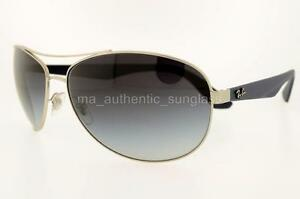 b8fb82f74da RAY-BAN RB 3526 0198G 019 8G 63MM MATTE SILVER FRAME GREY GRADIENT ...