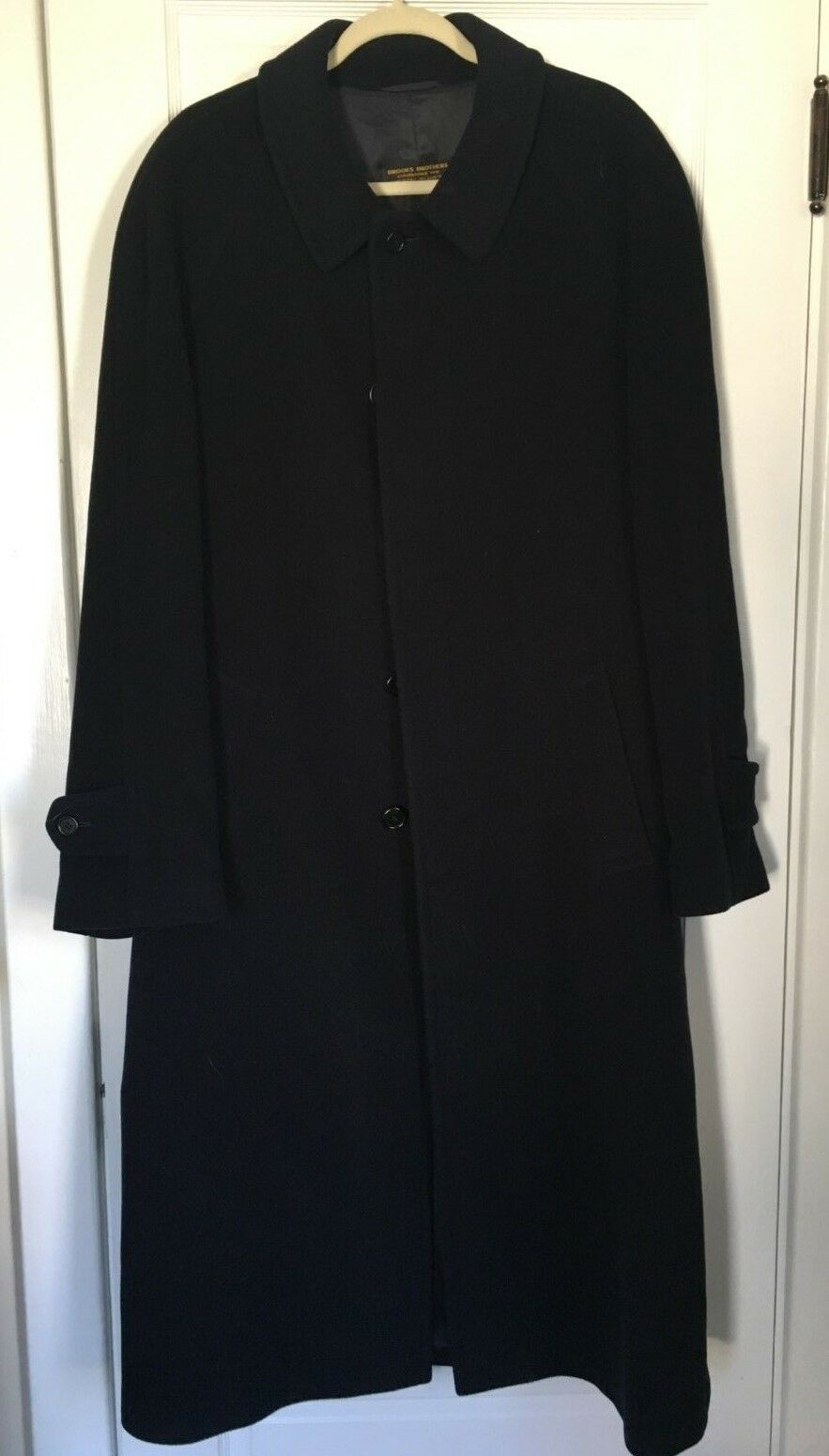 BROOKS BredHERS FULL LENGTH WOOL COAT 44L MADE IN ITALY