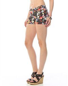 New-Diva-Hippie-Boho-Colorful-Floral-Denim-Western-Short-Shorts-S-M-L