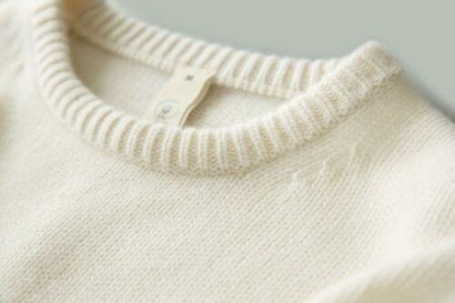 Loose Neck Sweater Crew Pullover Cashmere Kintwear Blend Kvinders Kintted Thicken ZW7wScRqP