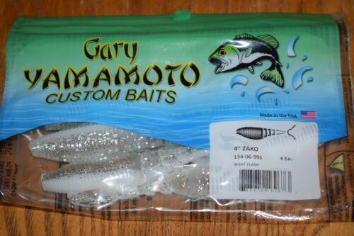 """NIP Sight Flash Gary Yamamoto 4/"""" Zako Swimbait Chatterbait Trailer"""