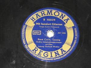 78rpm/Harmona 70039/RENE CAROL/MIT HUNDERT GITARREN/IN DER SCALA VON MILANO