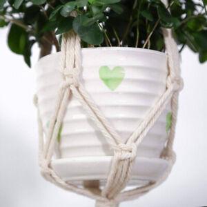 Macrame-Plant-Hanger-Cotton-Rope-Flower-Pot-Hanging-Basket-Holder-3-Tier-GO9X