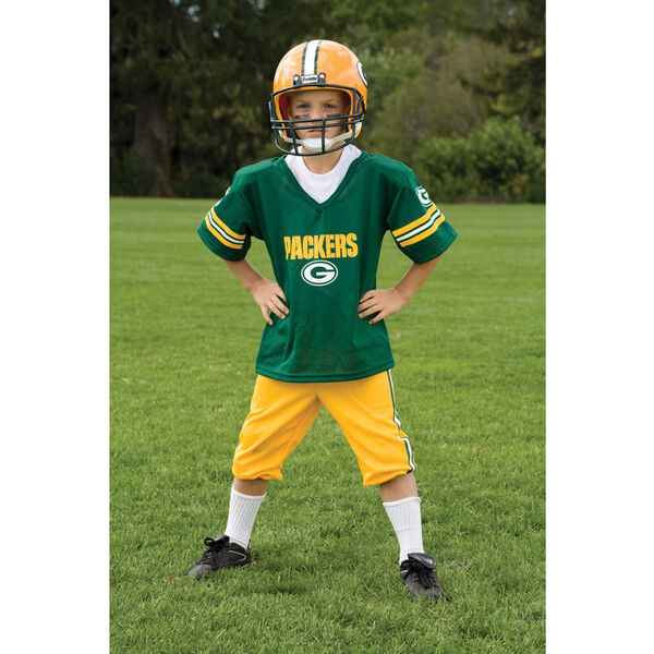 YOUTH SMÅ grön Bay packaers NFL UNIFORM SET barn spel Day Costume Age 4-6