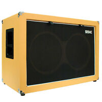 Seismic Audio Empty Guitar Speaker Cabinet 2x12 Cab 212 Orange Tolex on sale