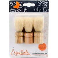 3 Blending Stippling Duster Paint Brushes Use W/ Stencils, Inks, Mica Powders