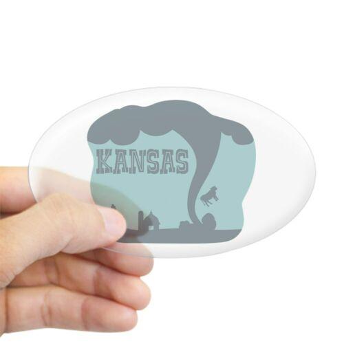 1220551800 CafePress KANSAS Sticker Oval Bumper Sticker Euro Oval Car Decal