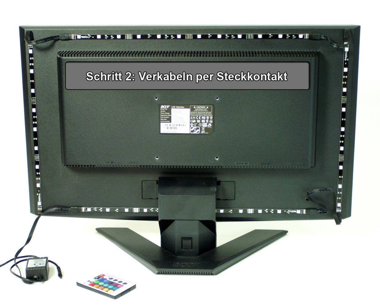 TV HINTERGRUNDBELEUCHTUNG 24-60 24-60 24-60 ZOLL (61-152cm)   LED LEISTE STRIP   MIT FB + NT 911b49
