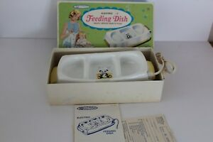 Vintage Sanitoy Nursery Needs Electric Baby Feeding Dish