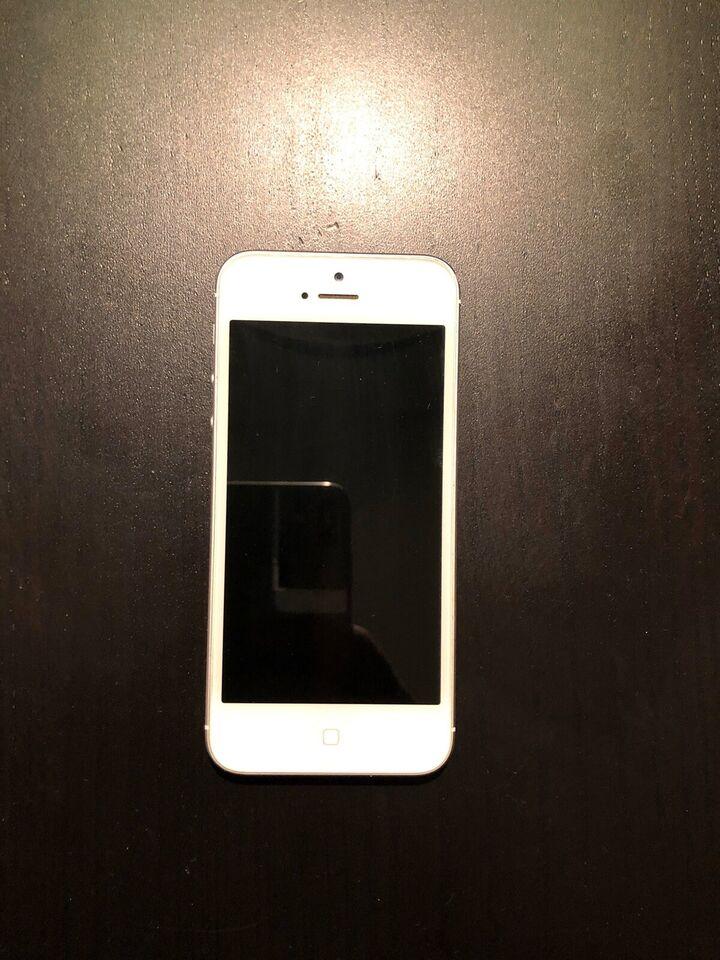 iPhone 5, 32 GB, hvid