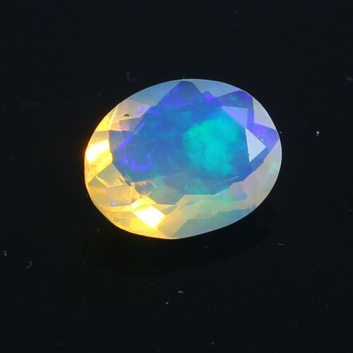 Welo~Fire Ethiopian Cut Natural Play-of-Color Crystal Opal Gemstone OPL-300