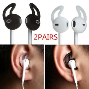 super popular 3e78f ff69e Details about 2 pairs Silicone Earpods Earbud Cover and Ear hook for iPhone  Apple Earphones**