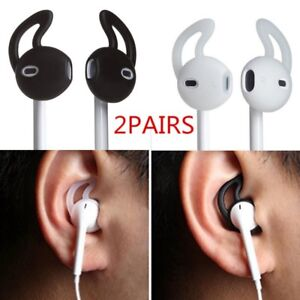 super popular 0302c fa342 Details about 2 pairs Silicone Earpods Earbud Cover and Ear hook for iPhone  Apple Earphones**