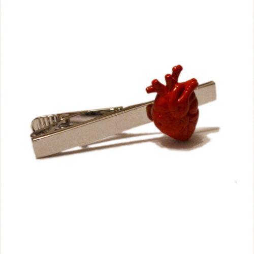 Corazón Rojo clip pa corbata Pin Bar Insignia Cirujano Doctor Médico Enfermera Regalo De Cumpleaños