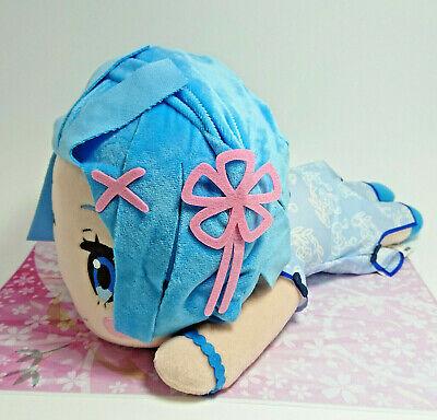 Sega Re Zero Anime Nesoberi Cute Jumbo Stuffed Plush Doll Maid Dress Rem SG8390