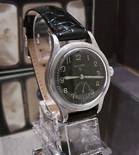 ANTIQUE VINTAGE C'45 RECORD WWW BLACK DIAL MILITARY WATCH WW2 SERVICED & WORKING