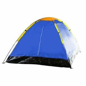 Two Person Camping Tent with Carry Bag - Rain Fly, Vented Roof, Screen/Solid