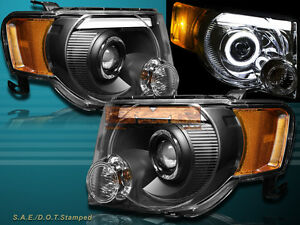 08 12 Ford Escape Xlt Xls Black Drl Strip Led Halo Projector