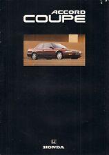 Honda Accord Coupe 2.0i 1992-93 UK Market Sales Brochure