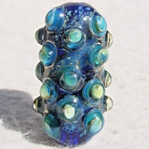ROKA-Handmade-Art-Glass-Focal-Bead-Flaming-Fools-Lampwork-Art-Glass-SRA