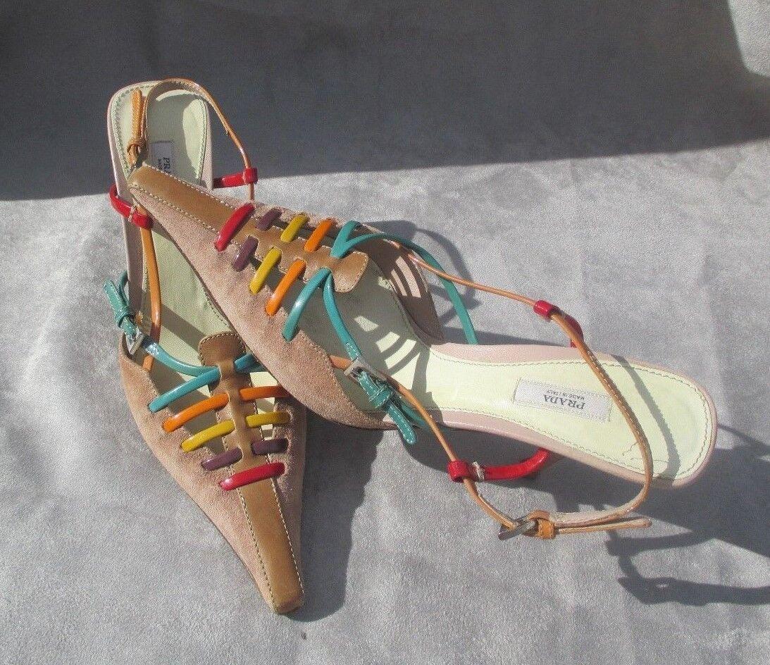 Hermosa Prada clásico italiano mujer mujer mujer zapatos talla 35-1 2 EU muy elegante  artículos de promoción