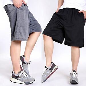 Mens-Summer-Casual-Athletic-Shorts-Elastic-Waist-Pockets-Cotton-Trousers-2XL-7XL