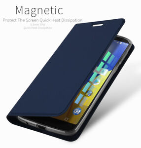reputable site cd610 c7ead Details about UK For Motorola Moto G6 Play PU Leather Flip Case Wallet  Smart Magnetic Cover