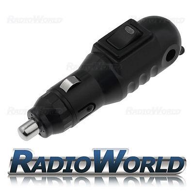 12v Male Car Cigarette Lighter Socket/Plug/Connector LED On Off Switch *HQ*