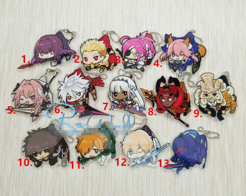Anime Fate//Grand Order FGO Acrylic Keychain Key Ring Race Straps   A