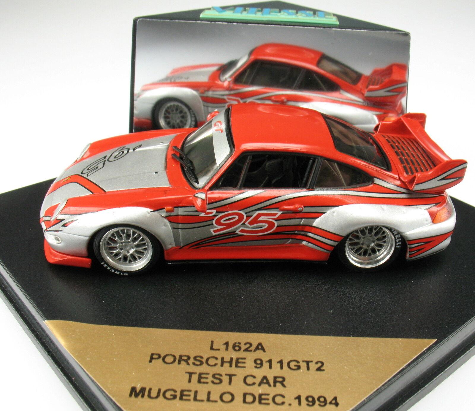 Vitesse l162a-Porsche 911 gt2-Test Coche mugello dec. 1994 - 1 43 - maqueta de coche