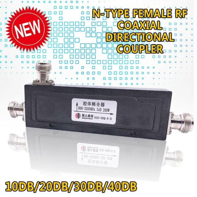 1PC N-Type Female RF Coaxial Directional Coupler 800-2500MHz 200W10dB~40dB