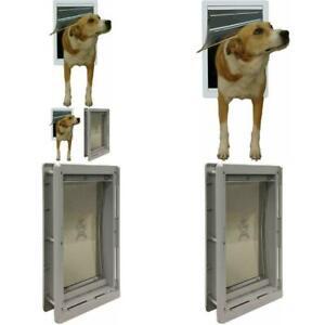 Extreme-Weather-Pet-Door-Medium-Exterior-Entry-Dog-Cat-Vinyl-Plastic-Heavy-Duty