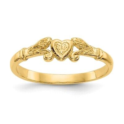 GIFT BOX size 3 FREE SHIPPING! 10KT YELLOW GOLD CHILDREN/'S HEART BAND//RING
